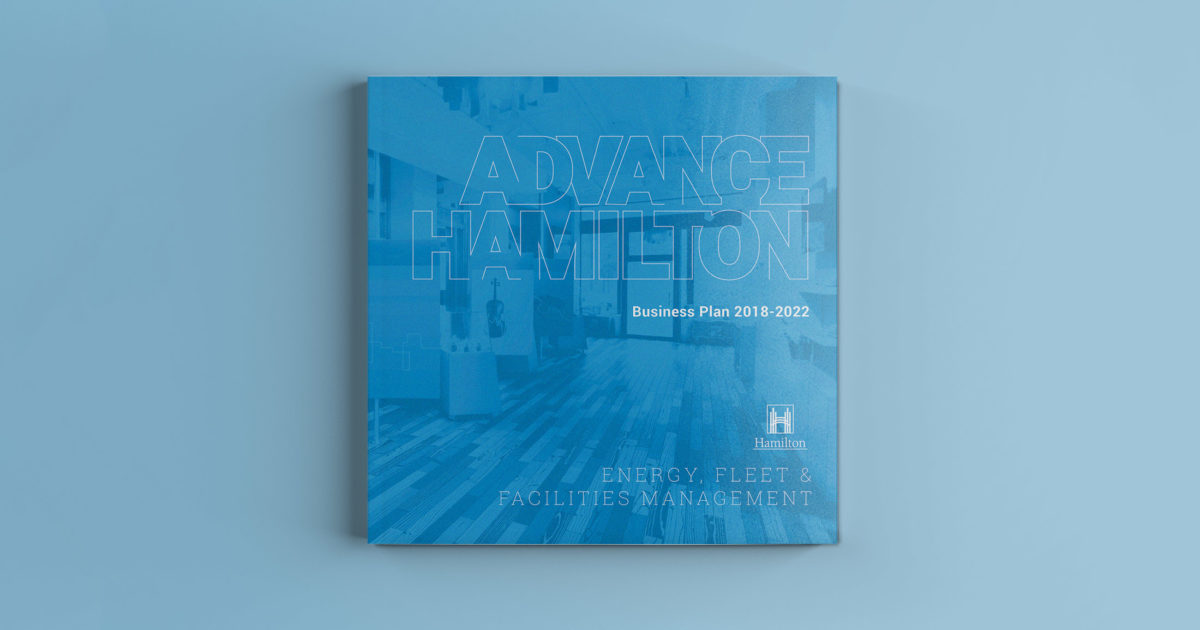 Business plan book design and production for City of Hamilton